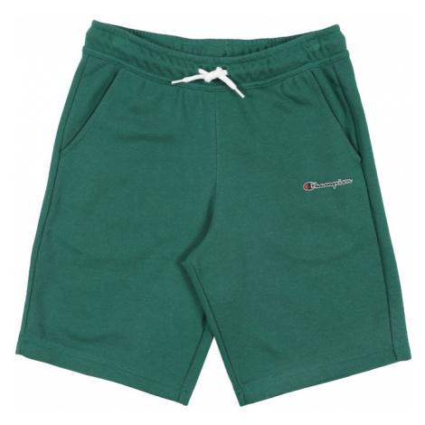 Champion Authentic Athletic Apparel Nohavice 'Bermuda'  zelená / biela
