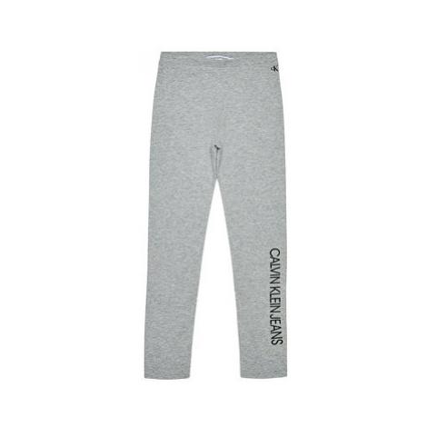 Calvin Klein Jeans Legíny Institutional IG0IG00559 Sivá Slim Fit