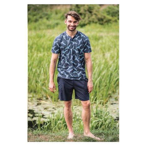 Pánske pyžamo MNS 741 - barva:KEYMODR/tmavo modrá