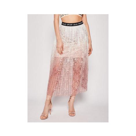Liu Jo Sport Plisovaná sukňa TA0171 J5958 Ružová Regular Fit