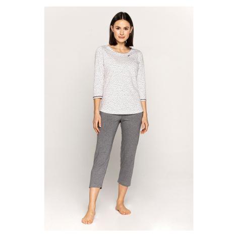 Dámske pyžamo CANA French Touch 565 MM Bílo-šedá