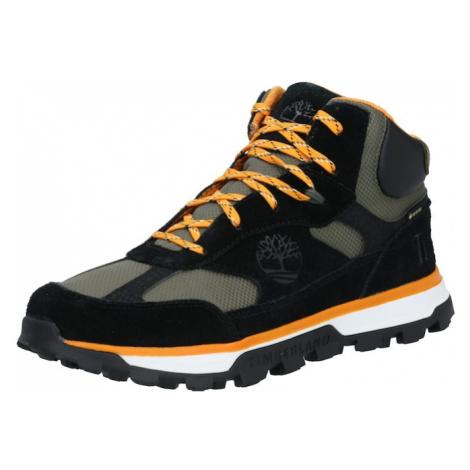 TIMBERLAND Tenisky 'Trail Trekker'  čierna / oranžová / dymovo šedá