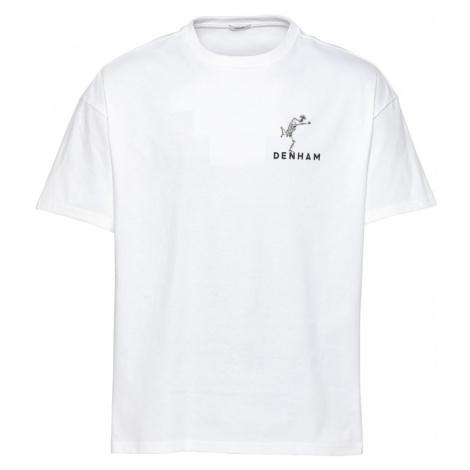DENHAM Tričko 'HARROW'  biela / čierna