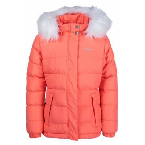 Lewro NAILA oranžová - Dievčenská prešívaná bunda