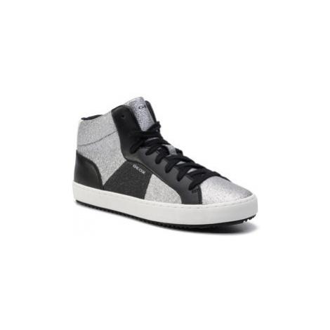 Geox Sneakersy J Kalispera G.P J944GB 0CD54 C1007 D Strieborná