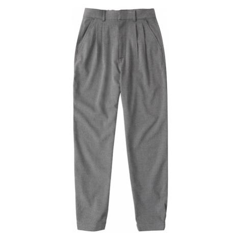 Abercrombie & Fitch Plisované nohavice  sivá melírovaná