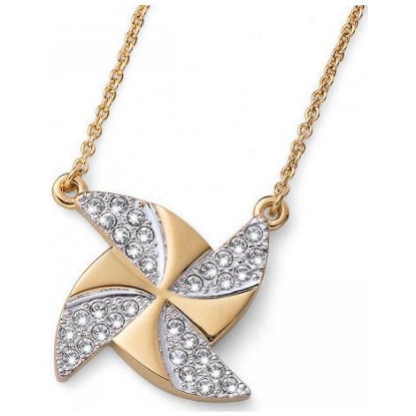 Oliver Weber Pozlátený náhrdelník s kryštálmi Ocean Turb