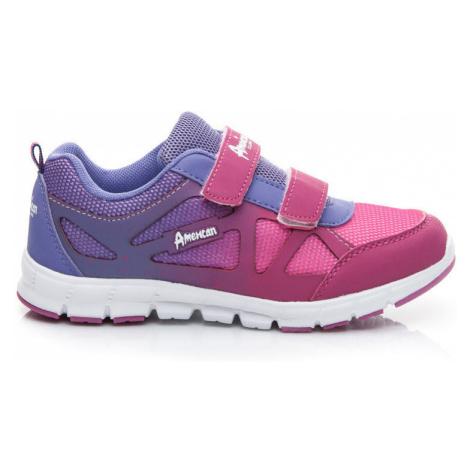 Pohodlné fialové detské športové topánky American Club