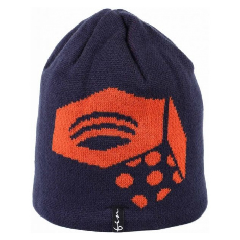 Finmark ZIMNÁ ČIAPKA čierna - Zimná pletená čiapka
