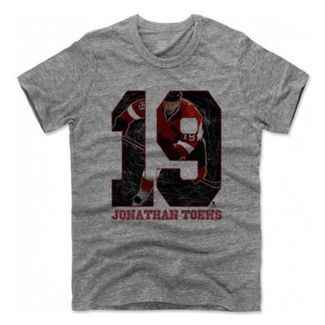 Pánske tričko 500 LEVEL Game K NHL Chicago Blackhawks Jonathan Toews 19 šedé