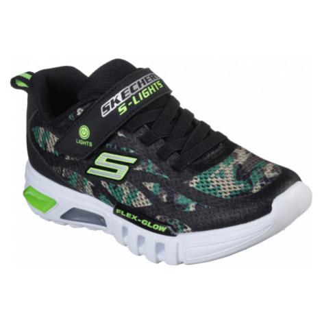 Skechers S-LIGHTS FLEX-GLOW čierna - Chlapčenské blikajúce tenisky