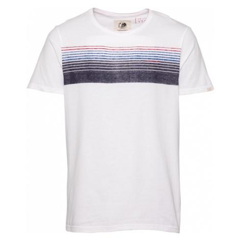 Ragwear Tričko 'HAKE'  biela / červená / modrá / tmavomodrá