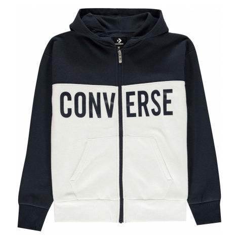 Converse Block Zip Hoodie Junior Boys
