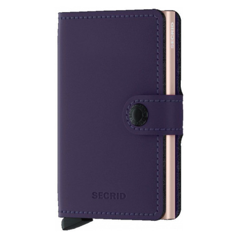 Secrid Miniwallet Matte Purple Rose-One size zelené MM-Purple-Rose-One size