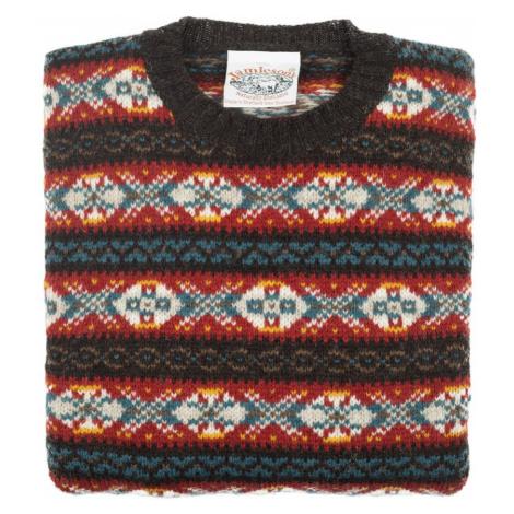 Jamieson's Knitwear Farebný vzorovaný sveter Jamieson's zo shetlandskej vlny