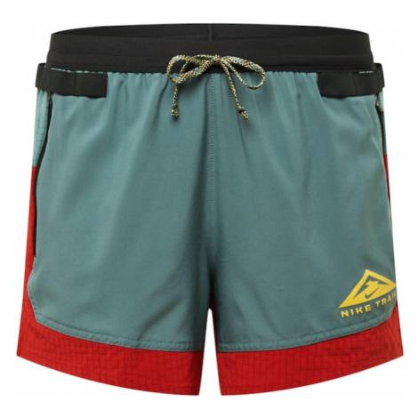 NIKE Športové nohavice  červená / nefritová / čierna / žltá