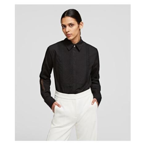 Košeľa Karl Lagerfeld Shirt W/ Embroidered Logo Tape