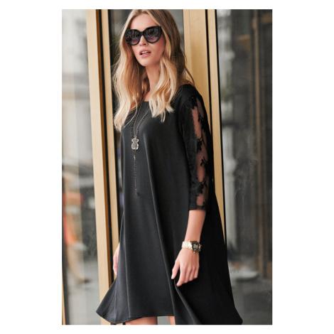Čierne šaty NU237 Numinou
