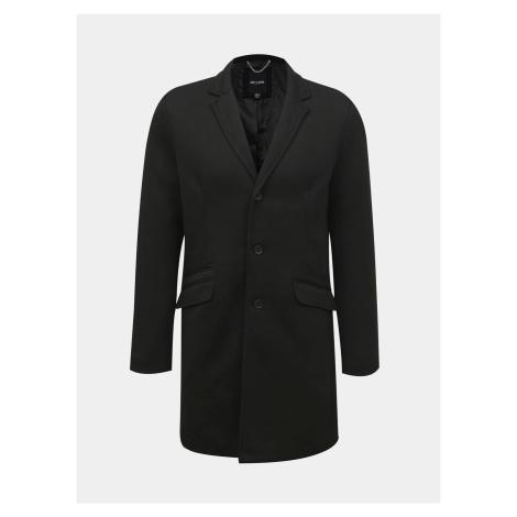 ONLY & SONS čierny pánsky kabát Julian
