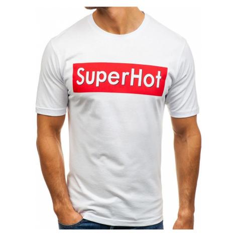 Biele pánske tričko s potlačou BOLF 6303 RIPRO