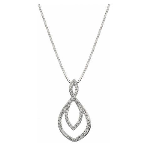 Hot Diamonds Strieborný náhrdelník s pravým diamantom Lily DP733