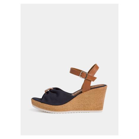 Tamaris modré topánky na kline