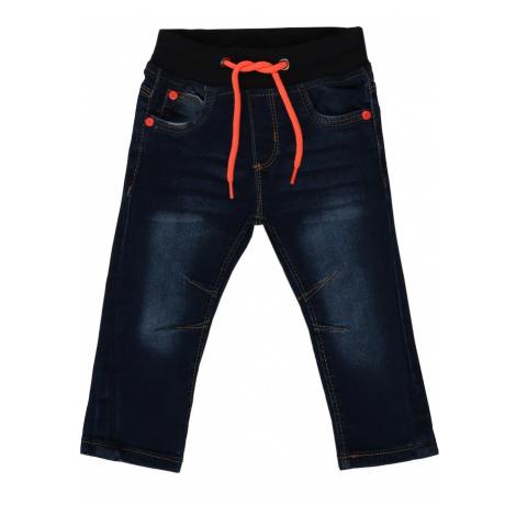 BLUE SEVEN Džínsy  tmavomodrá / neónovo oranžová