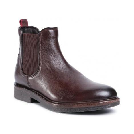 Členkové topánky Gino Rossi MB-HAVR-01 Prírodná koža(useň) - Lícova
