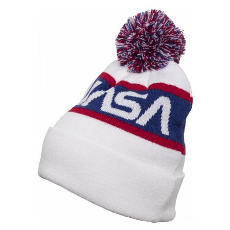 MR.TEE Zimná čiapka NASA Beanie Knitted Farba: wht/blue/red