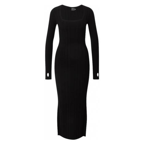HUGO Pletené šaty 'Sherlee'  čierna Hugo Boss