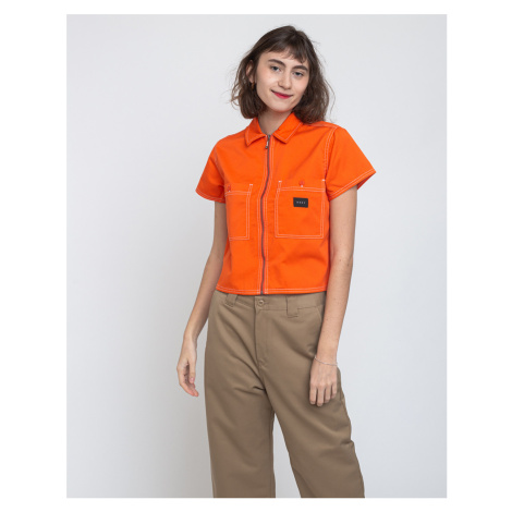 Obey Bailey Work Shirt Flame Orange