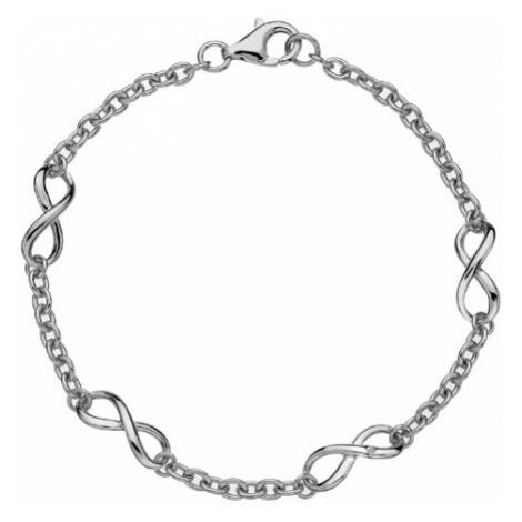 Hot Diamonds Strieborný náramok s diamantom Infinity DL293