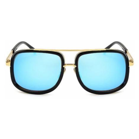 Slnečné okuliare Golden čierne modré sklá