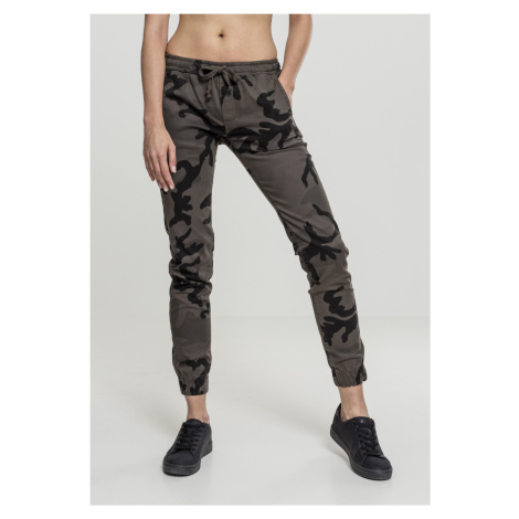 Dámske nohavice URBAN CLASSICS Ladies Camo Jogging Pants dark camo