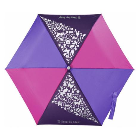 Detský skladací dáždnik ružová/fialová/modrá