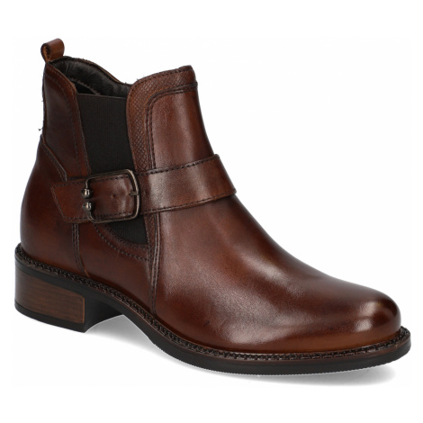 Pat Calvin hladká koža chelsea boots hnedá