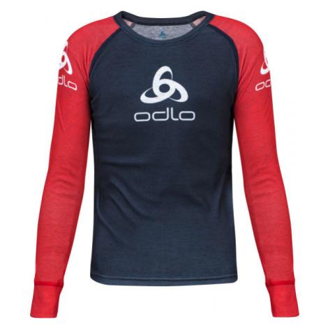 Odlo SUW KID'S TOP CREW NECK L/S ORIGINALS LIGHT červená - Detské tričko