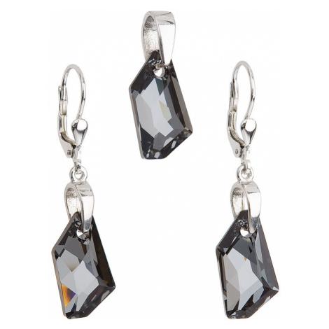 Sada šperkov s krištáľmi Swarovski náušnice a prívesok šedý krištál 39039.5