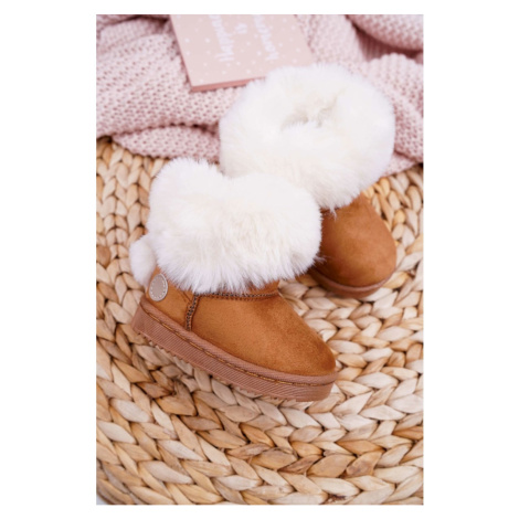 Children's Snow Boots With Fur Camel Kiks