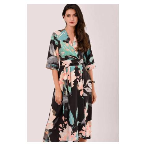 Kvetinové zavinovacie šaty Closet