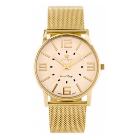 Dámske hodinky s krémovým ciferníkom Gino Rossi 1874B-5D1/2