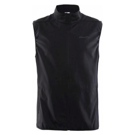 Craft WARM čierna - Pánska softshellová vesta
