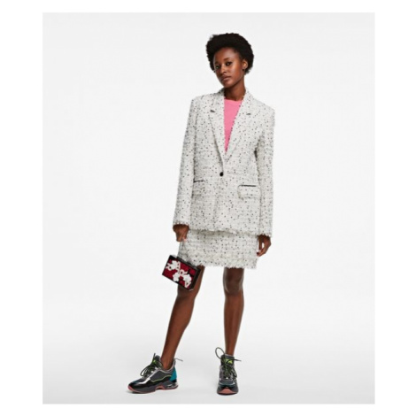 Sako Karl Lagerfeld Long Boucle Jacket