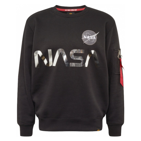 ALPHA INDUSTRIES Mikina 'NASA Reflective'  sivá / čierna