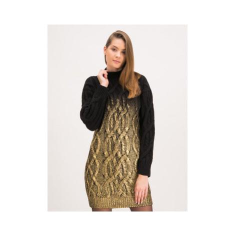 Pinko Úpletové šaty Estone 20192 PBK2 1B145M Y5T1 Čierna Regular Fit