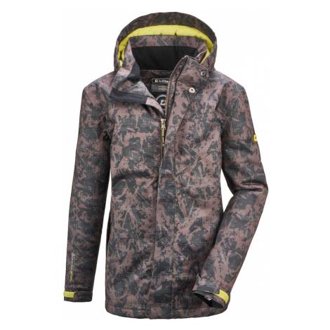 KILLTEC Športová bunda 'Lynge'  antracitová / neónovo zelená