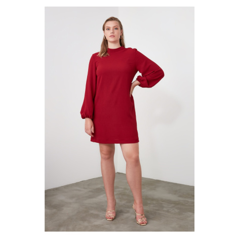 Trendyol Bordeaux Basic Dress