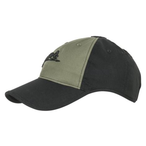 "Šiltovka ""baseballka"" HELIKON-TEX ® Logo Cap Rip Stop - čierna, zelená"