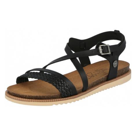 MUSTANG Remienkové sandále  čierna