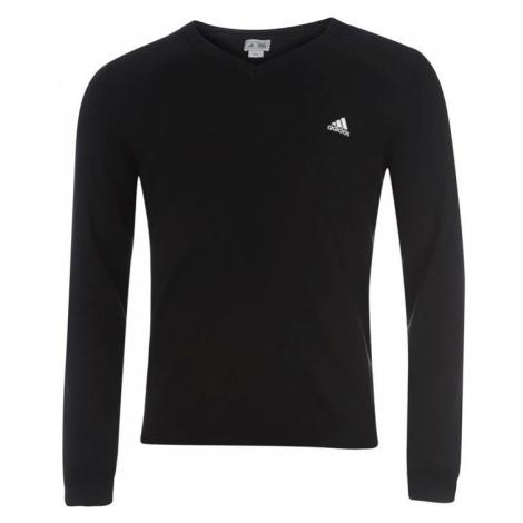 Svetr pánský adidas LC Logo Golf Sweater Chrome